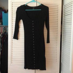 Long black T-shirt dress